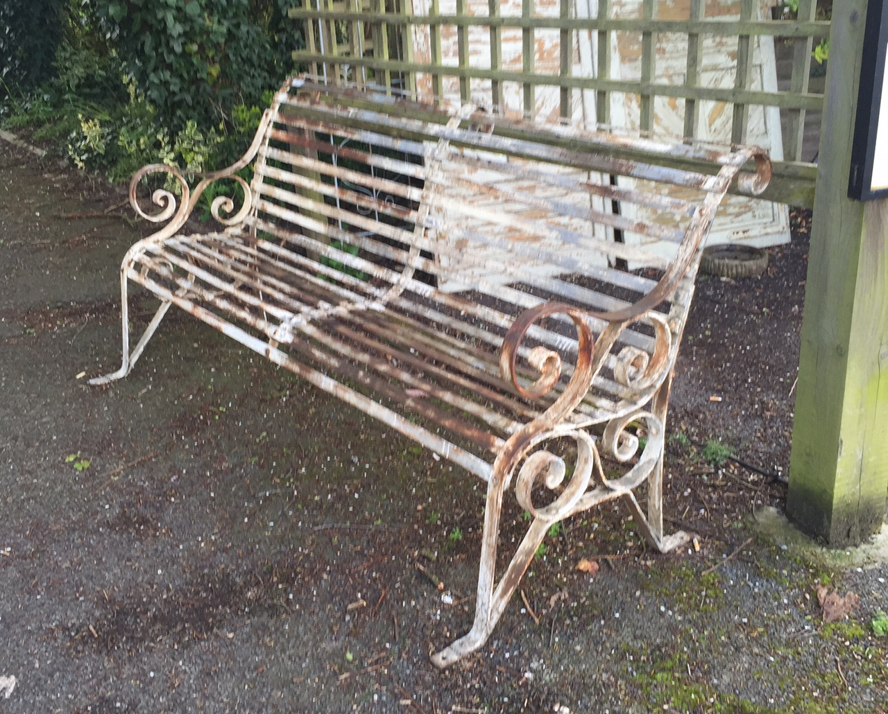 Iron Beds Australia A Victorian Design Wrought Iron Scroll Back Garden Bench
