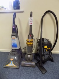 DYSON DC50 upright vacuum cleaner, VAX Rapide carpet ...