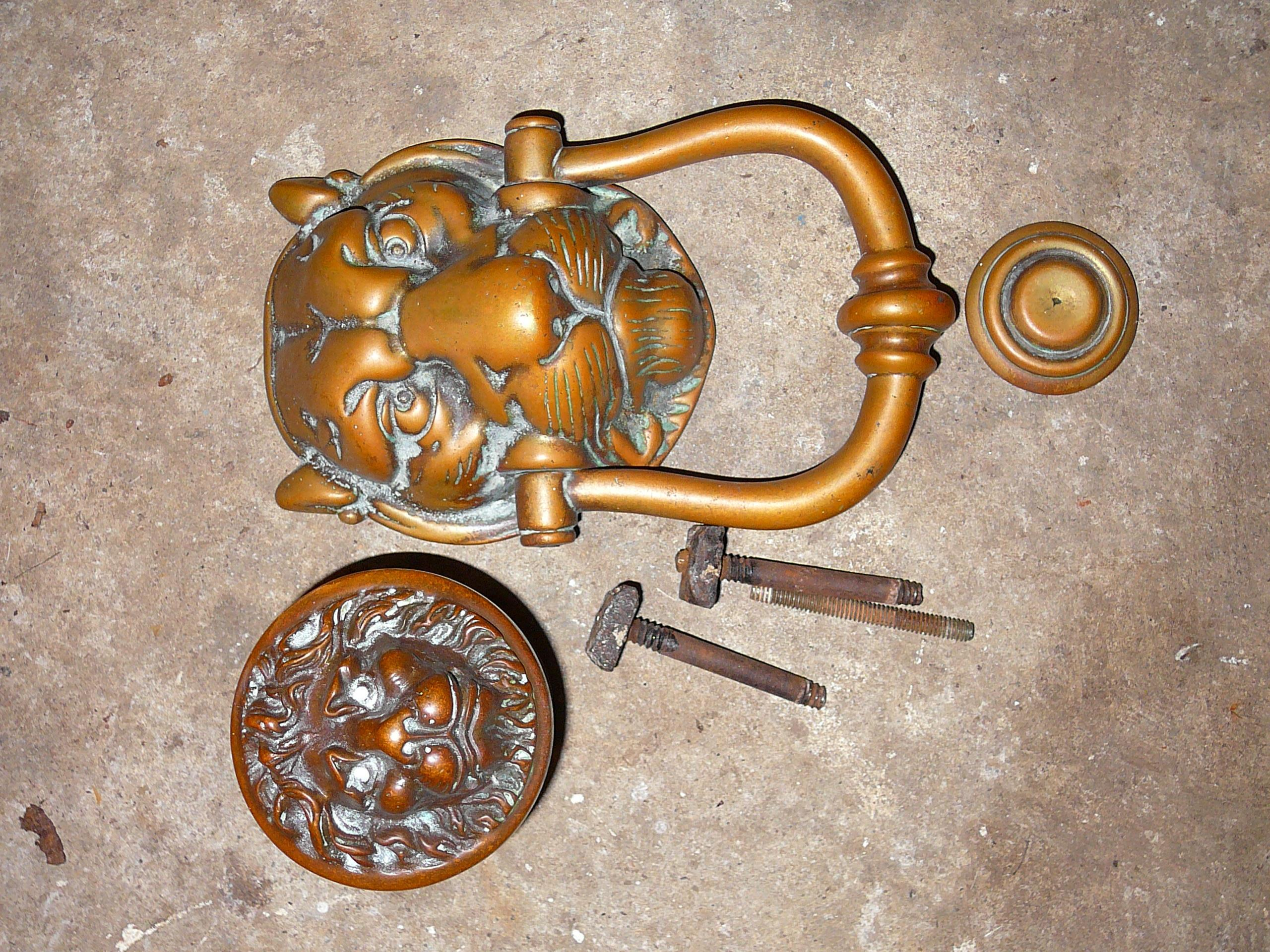 Heavy Door Knocker Heavy Brass Lion Mask Door Knocker And Handle