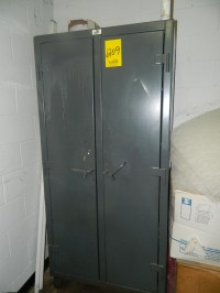 STRONG HOLD STORAGE CABINET & CONTENTS