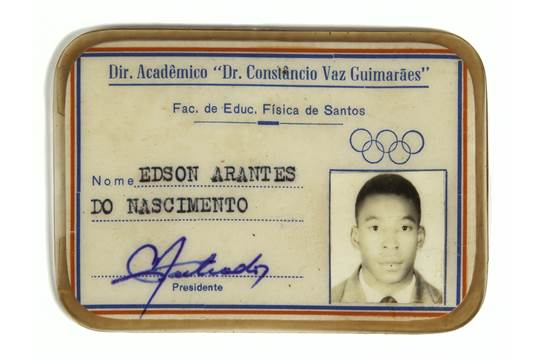 A student picture identification card issued to Pelé in 1973 by Dr - student identification card