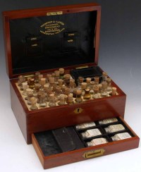 Late Victorian mahogany homeopathic medicine chest by ...
