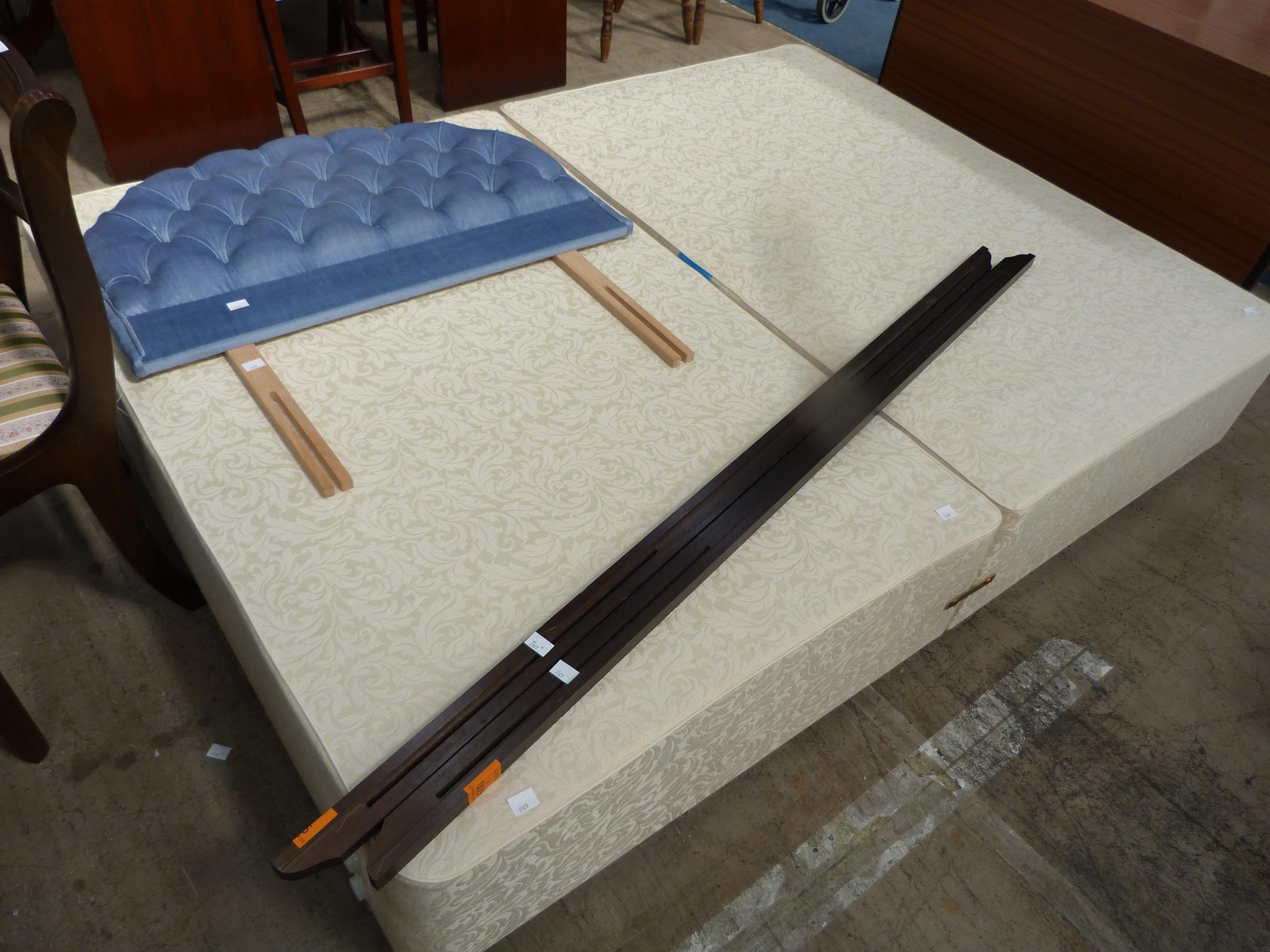 Length Of A Double Bed A Double Divan Bed Base With Single Headboard And Two