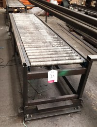 2 x Roller feed tables