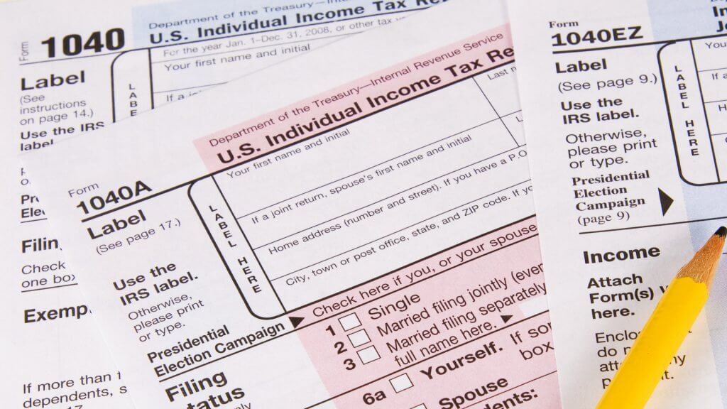 What Is the Difference Between Tax Forms 1040, 1040A and 1040EZ - tax form