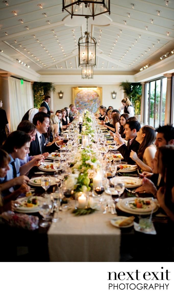 Elegant Long Table Dinner Reception Wedding Photography - Next Exit