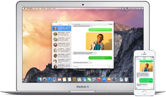 iOS 8 gets FaceTime audio conference calls, Yosemite gets iMessage