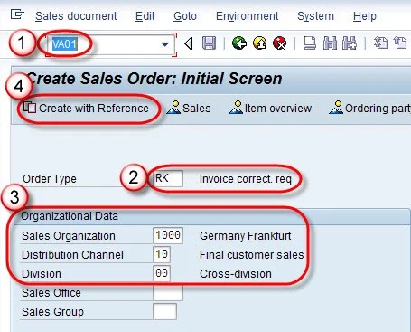 How to Create Invoice Correction Request in SAP SD - create a invoice