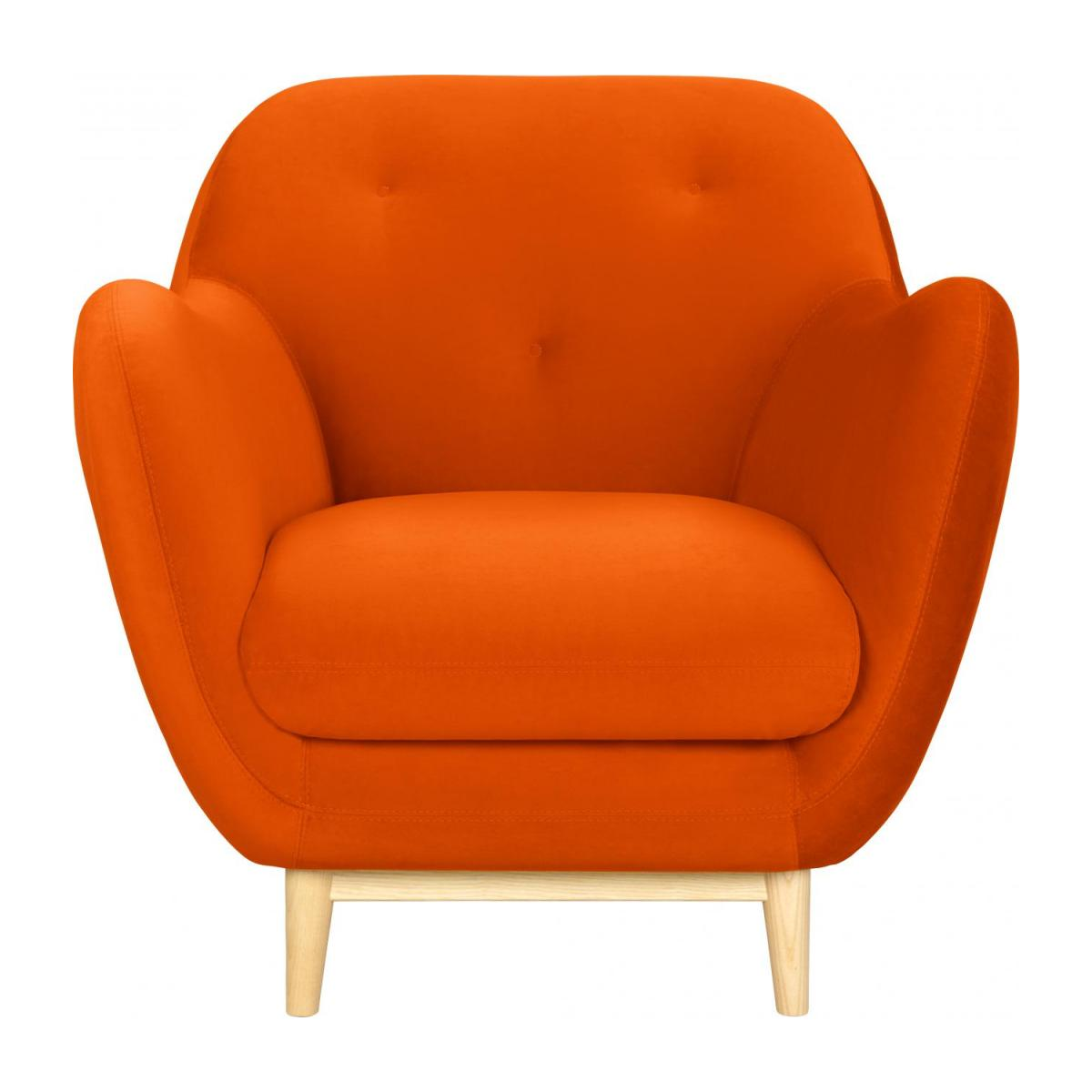 Melchior Sessel Aus Samt Orange Design By Adrien
