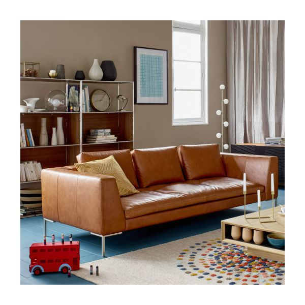 Couch 3 Sitzer Montino - Canapé 3 Places En Cuir Aniline Vintage Leather