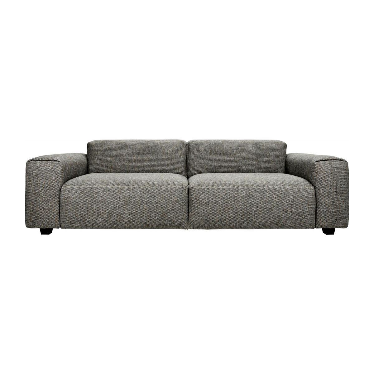 Canape Sofa Posada 4 Seater Sofa In Bellagio Fabric Night Black