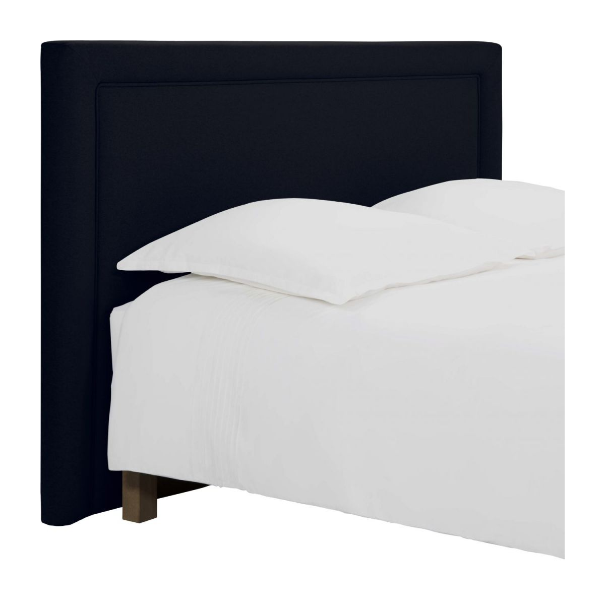 180cm Bed Montana Headboard For 180cm Box Spring In Felt Dark Blue