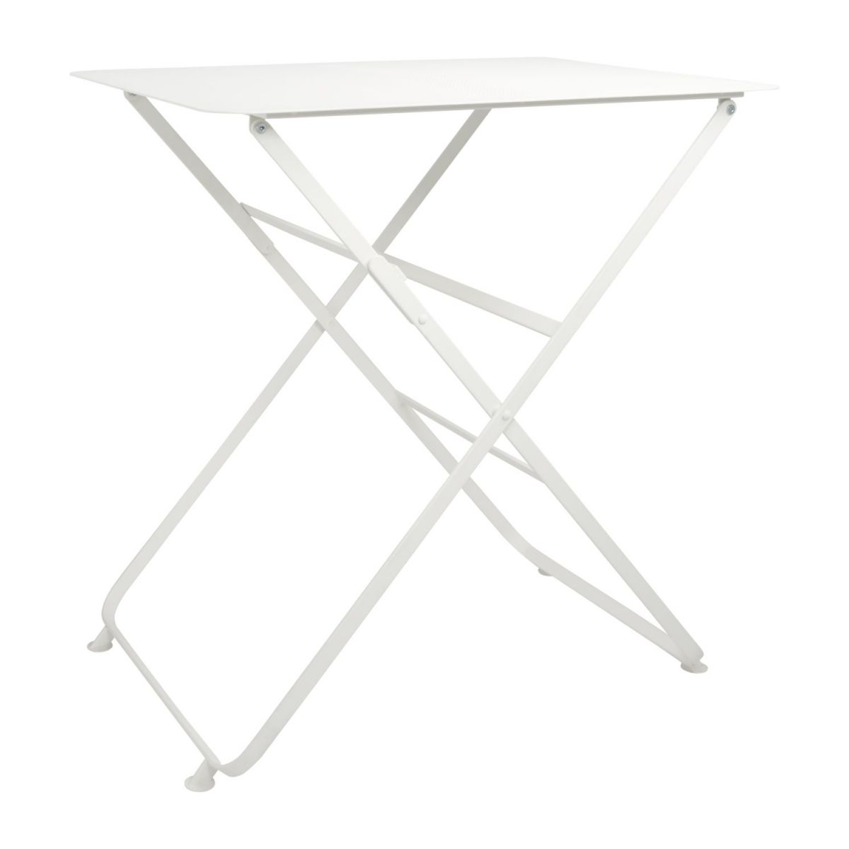 Table Metal Blanc Helios Table Pliante En Métal Blanche