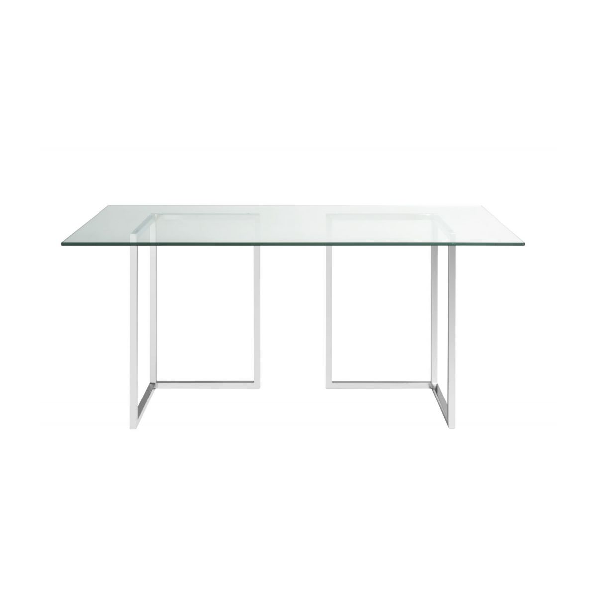 Pied Table En Verre Lagon Plateau De Table En Verre 180x80cm