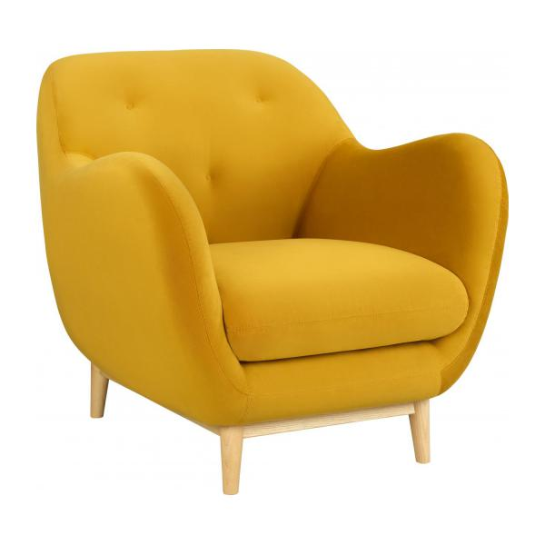 D Box Sessel Melchior - Fauteuil En Velours Moutarde - Design By Adrien