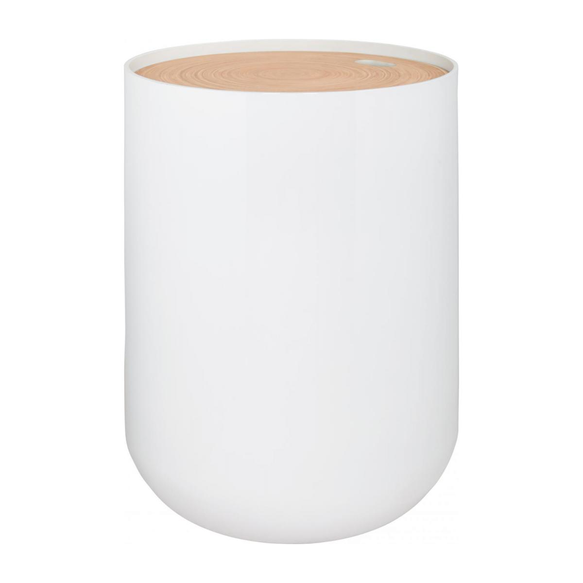 Table D Appoint Blanche Blyth Table D 39appoint 40 Cm En Bambou Blanche Habitat