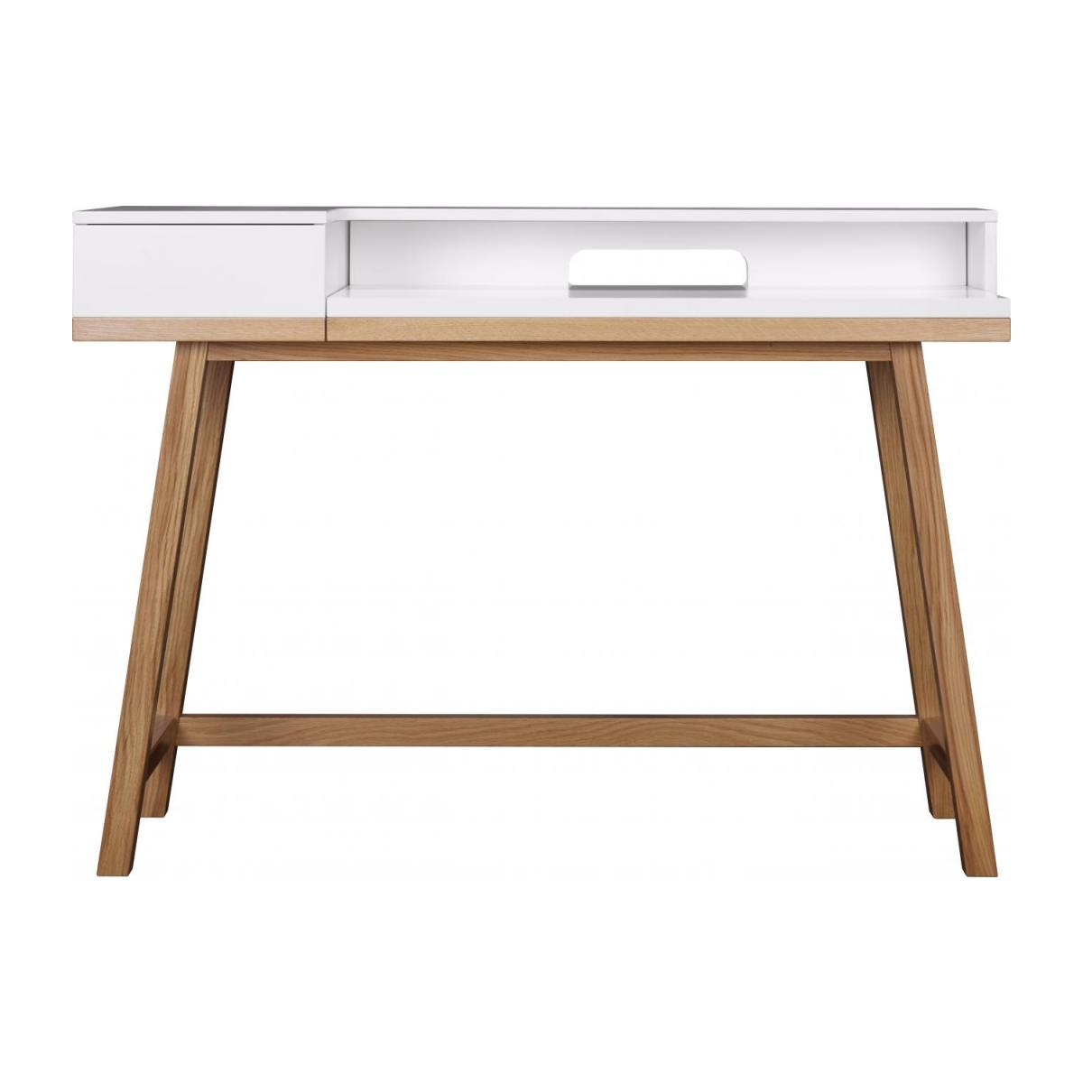 Bureau Blanc Theo Desk White And Oak