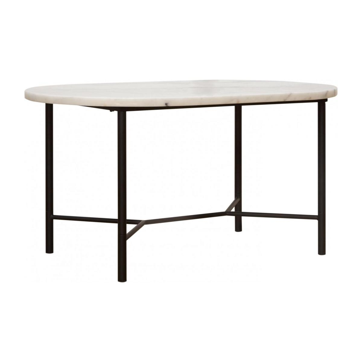 Table Basse En Marbre Goldie Table Basse Ovale Marbre Blanc