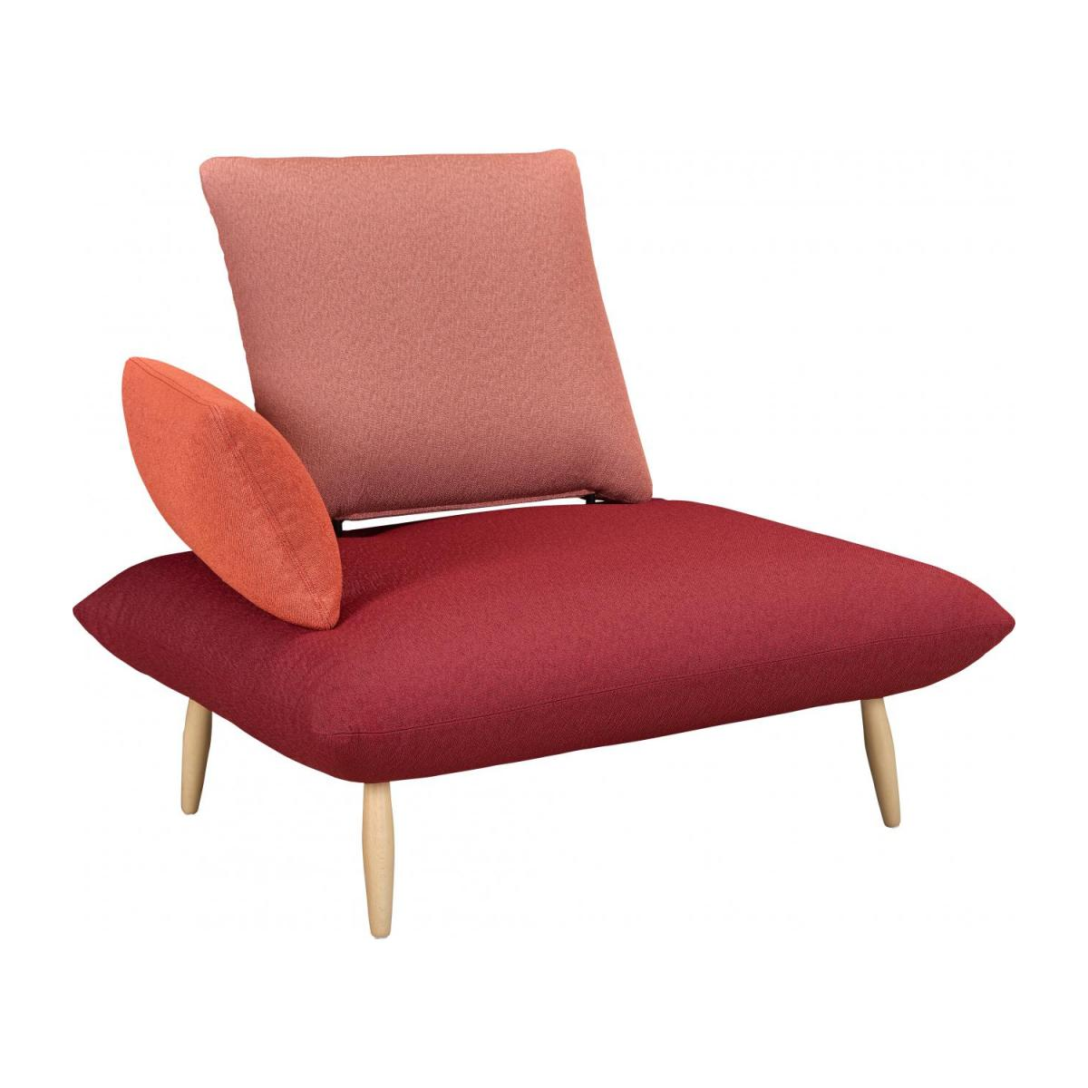 Sessel In Rot Naoko Sessel Aus Stoff Rot Rosa Und Orange