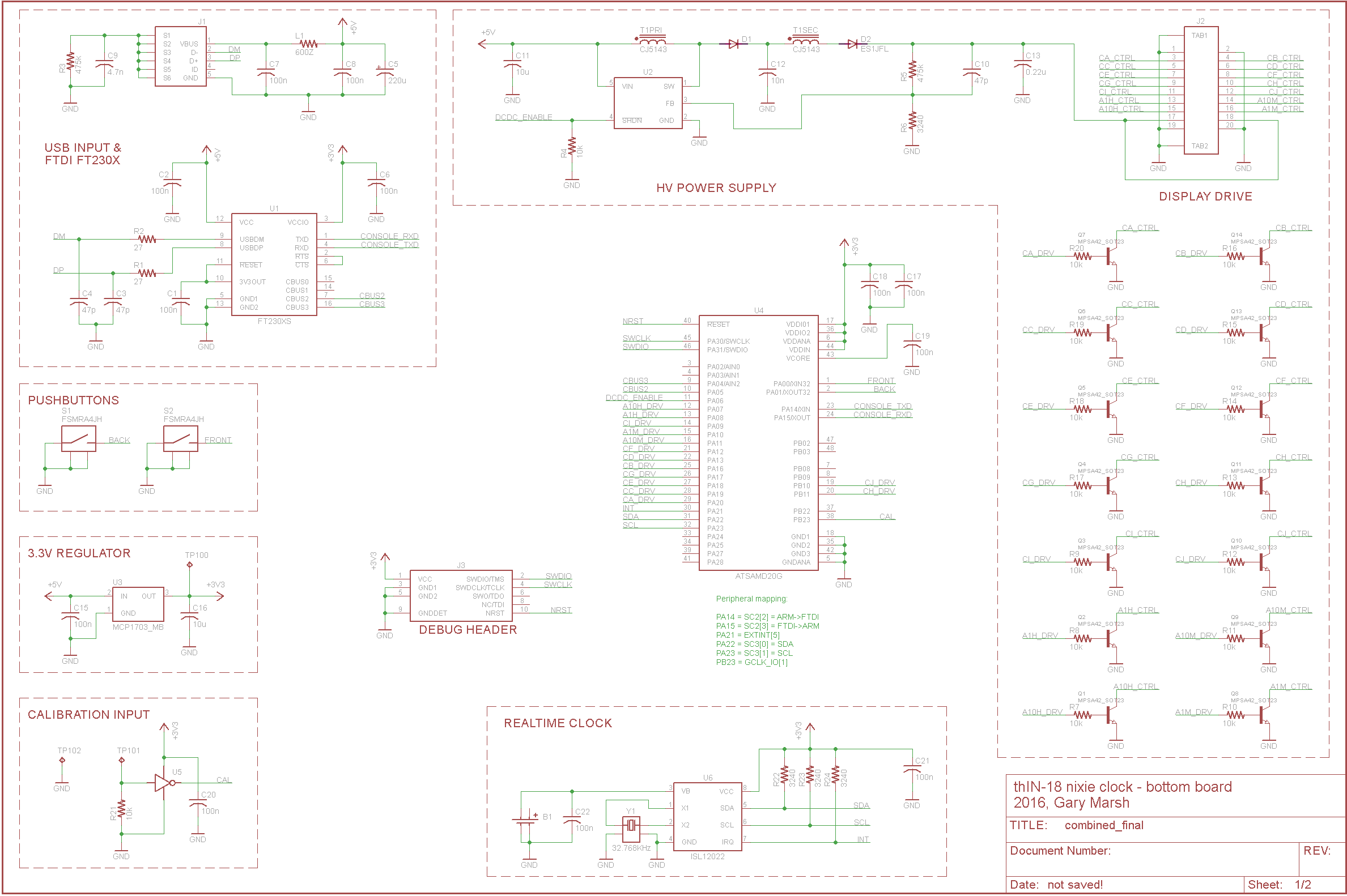 nixie tube schematic page 1