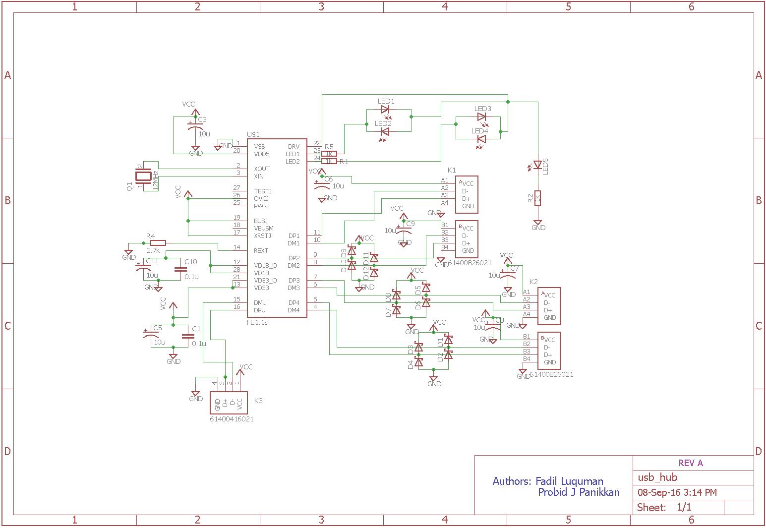 usb hub schematic design