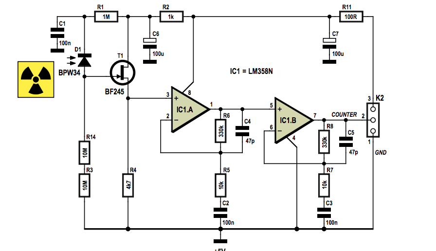 bpw34 photodiode circuit