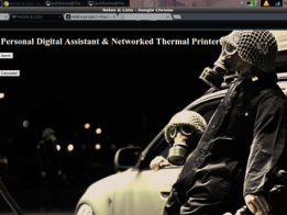 Digital Assistant & Networked Thermal Priter