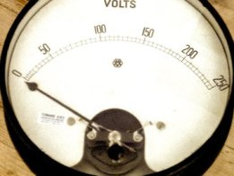 Web powered antique wind gauge