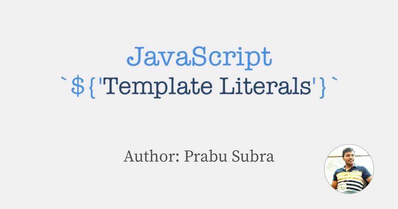 Template literals in JavaScript(ES6) - Hashnode