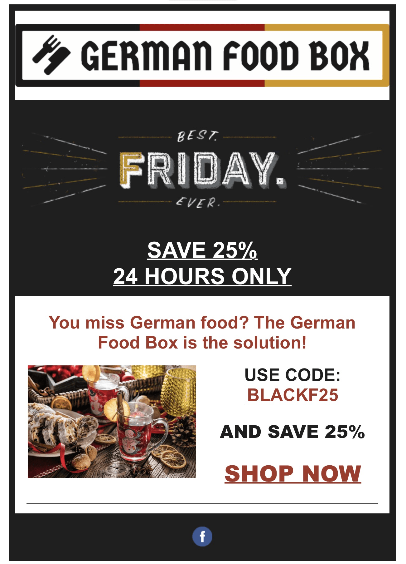 Black Friday Germany German Food Box Black Friday Coupon Save 25 Hello