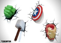 The Avengers 3D Wall Art Night Lights | HiConsumption