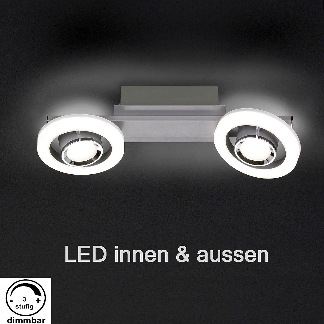 Dimmbare Led Spots Dimmbare Led Deckenleuchte Mit 2 Spots