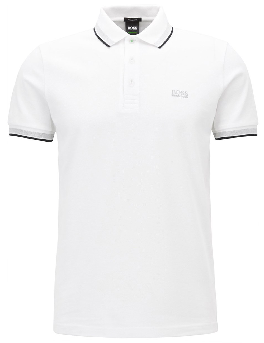 Herren Polo Shirt Hugo Boss Paddy Weiss
