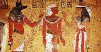 wall-painting-of-tutankhamun-accompanied-by-anubis-and ...