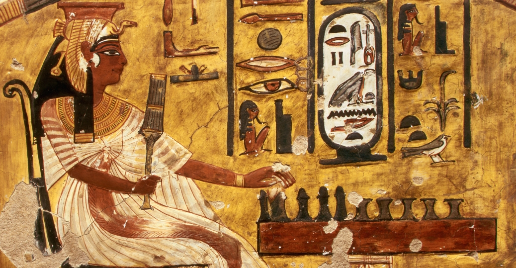 Fresco Painting Of Nefertari Playing Senet 2 Egyptian Relief Sculpture And Paintings Pictures