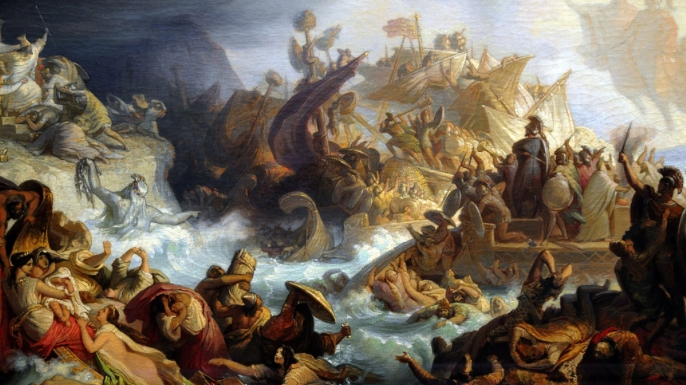 The Fall Of Troy Wallpaper 6 Ancient Naval Battles History Lists