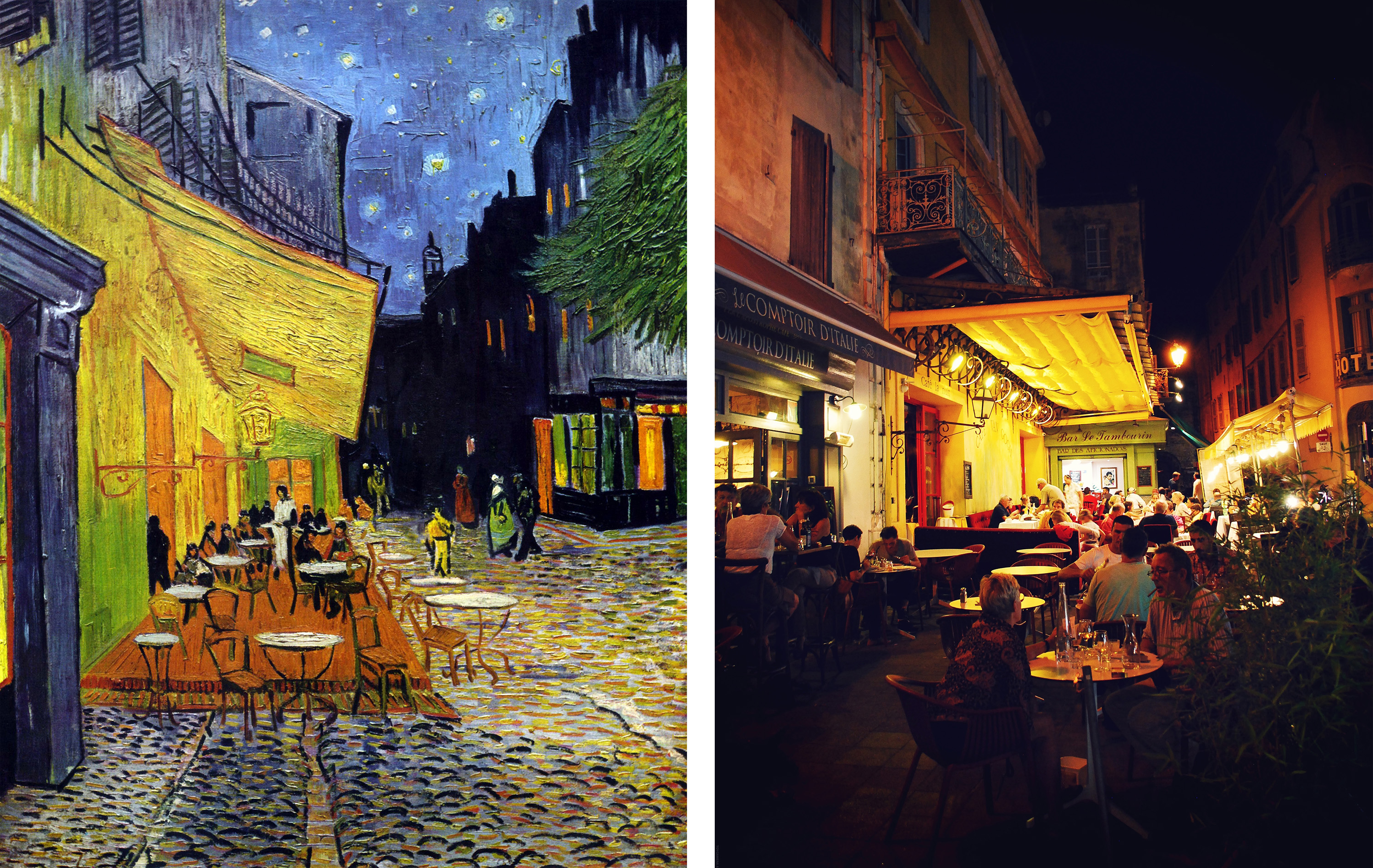 Café Terrasse Famous Painting Of Cafe At Night Defendbigbird