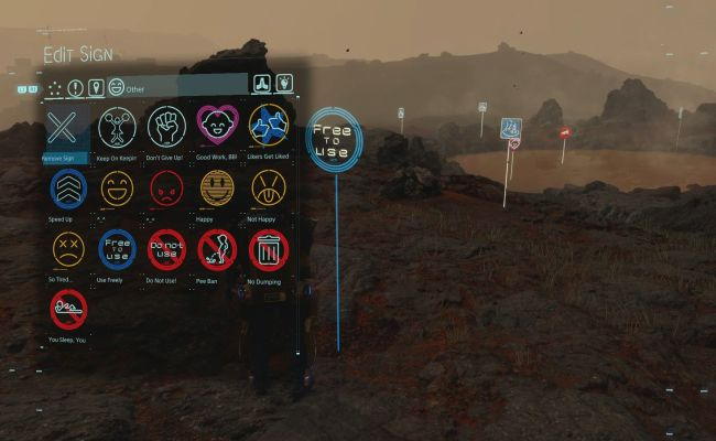Death Stranding How To Create Signs