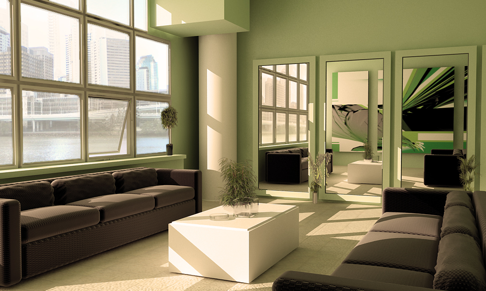 Green Living Room \ Green furniture - green living rooms
