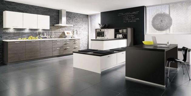 Black Gloss Kitchen Island Types Of Kitchens - Alno