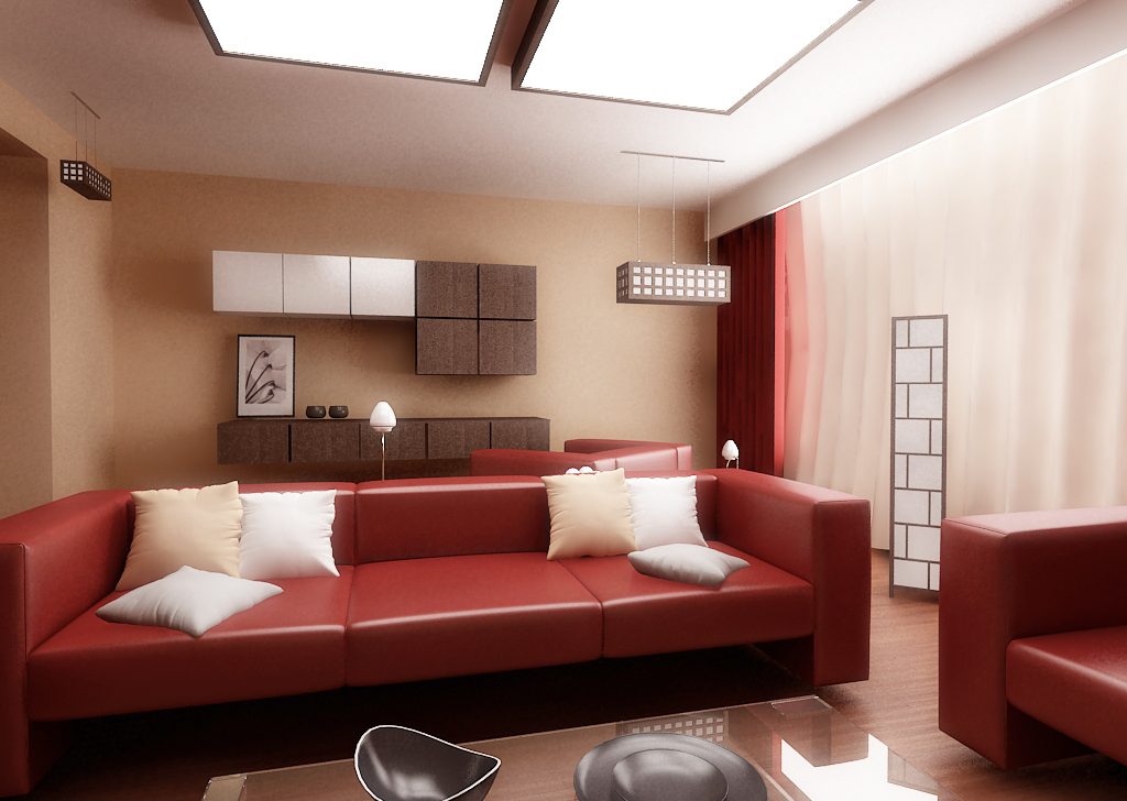 28 Red and White Living Rooms - black and red living room ideas
