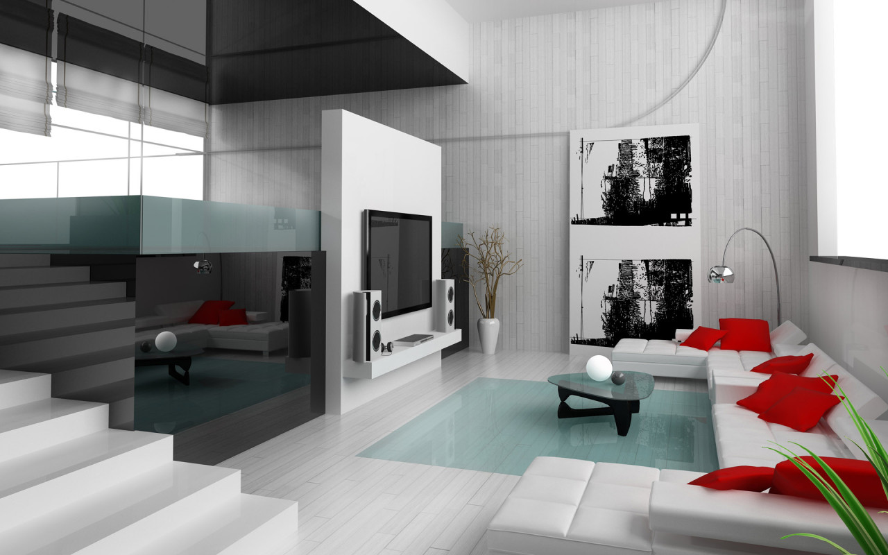 Interior Decoration 28 Red And White Living Rooms