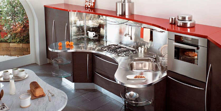 Modular Kitchen Design Red And White Red Kitchens