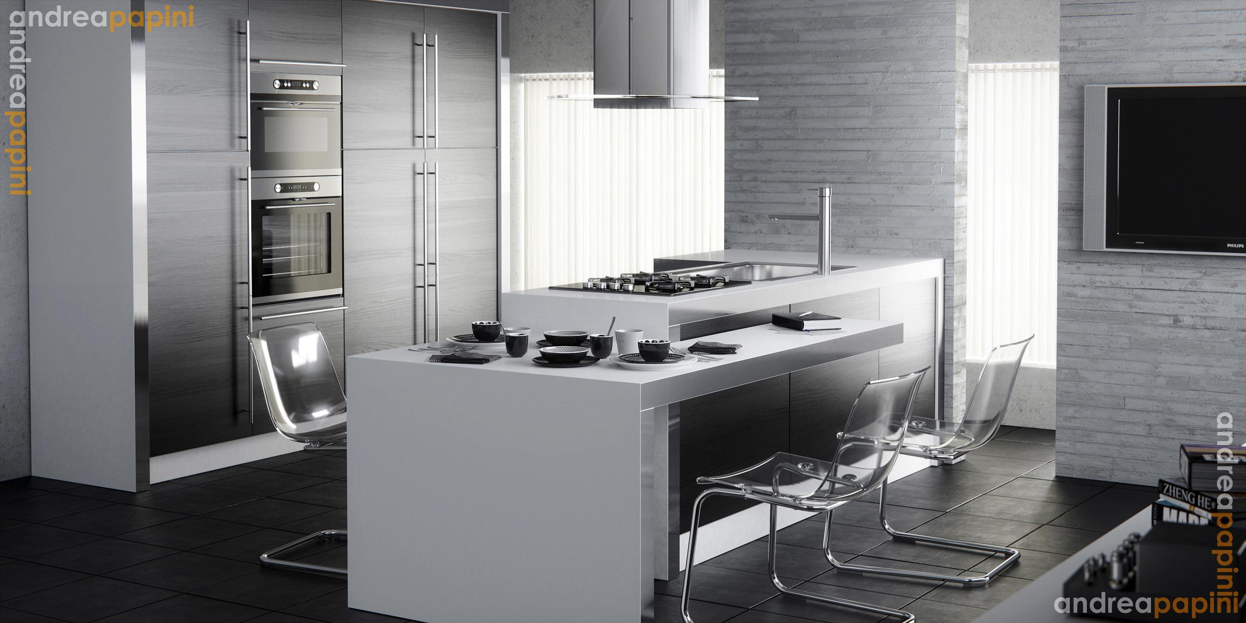white kitchens white kitchen ideas Designed by Andrea Papini