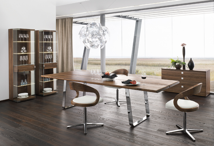 modern dining table sustainable natural wood chrome china dining room furniture kitchen furniture china dining