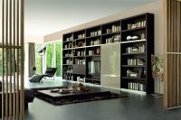 Wall of bookshelves?
