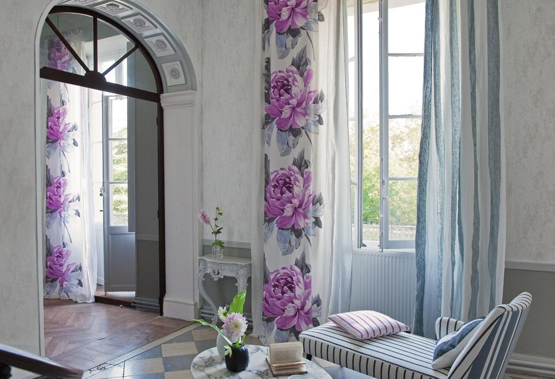 Wall Drapes Spring Flower Wall Curtains | Interior Design Ideas.