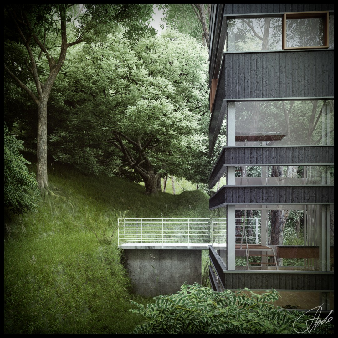 Houses In The Forest Japanese House In The Forest Visualized