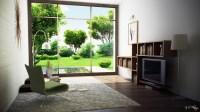 modern room with garden view | Interior Design Ideas.