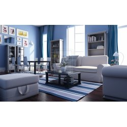Small Crop Of Blue Living Room